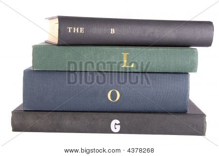 "Books With ""the Blog"" Spelt On The Spines"