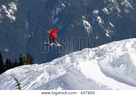 Red Snowboarder