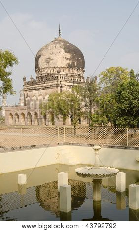 Mausoleum and fountain, Hyderabad