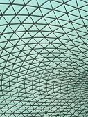 Abstract shot of the glass roof on the Great Court at the British Museum poster