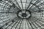 Photo conventional metal structure round glass roof poster