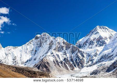 Himalaya Mountain Peaks Autumn Landscape