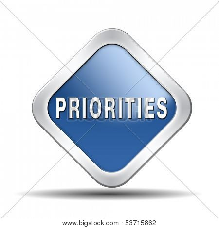 priorities important very high urgency info lost importance crucial information top priority icon stamp button or label