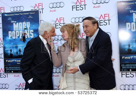 LOS ANGELES - NOV 9:  Dick Van Dyke, Karen Dotrice, Richard M. Sherman at the AFI FEST