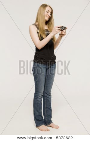 A Young Blonde In Dark   Tope Plays On Psp