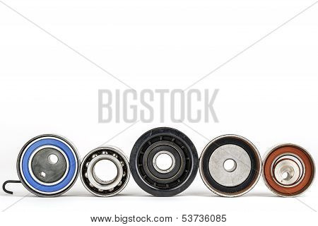 Worn Tensioners, Pulleys And Bearing