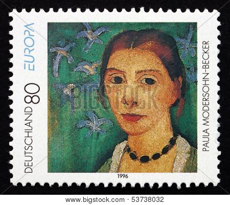 Postage Stamp Germany 1996 Self-portrait, By Paula Modersohn-bec