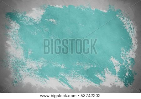 Abstract Turquoise Paint Background