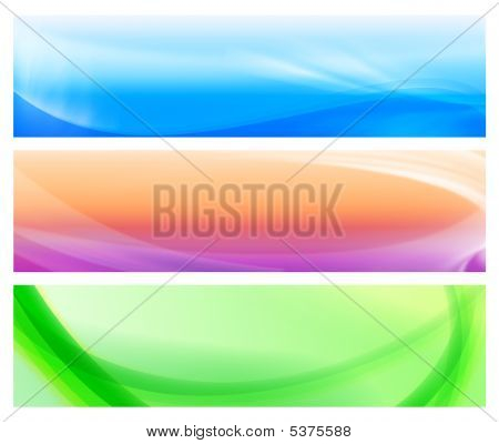 Three Colorful Web Abstract Banners 2