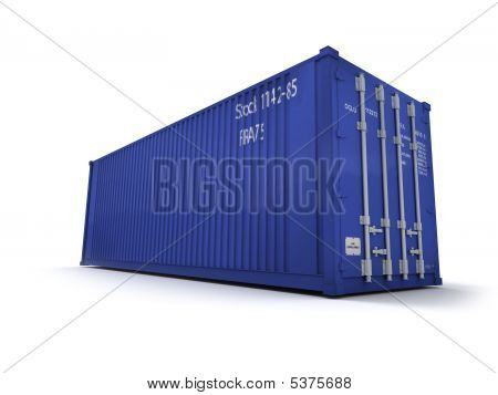Blue Cargo Container