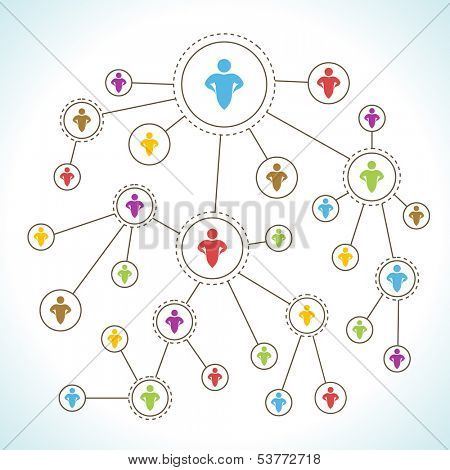Social Network. Network Marketing concept.