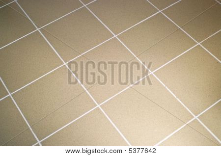 Ceramic Tile Floor Brown Color