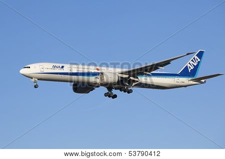 All Nippon Airways aircraft landing