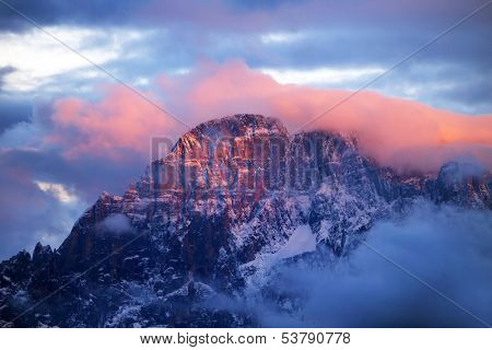 Monte Civetta in the Dolomites, Italy, Europe poster