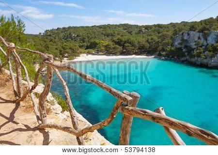 Cala Macarella Ciudadela Menorca turquoise Mediterranean sea in Balearic islands poster