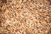 Yellow natural cork roll, photo background texture poster