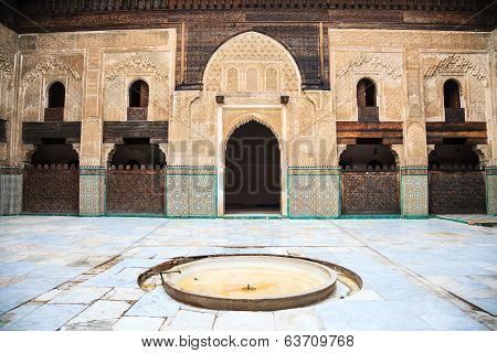 Courtyard of bou inania madrasa