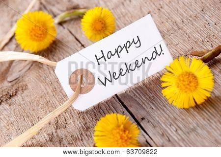 Banner With Happy Weekend