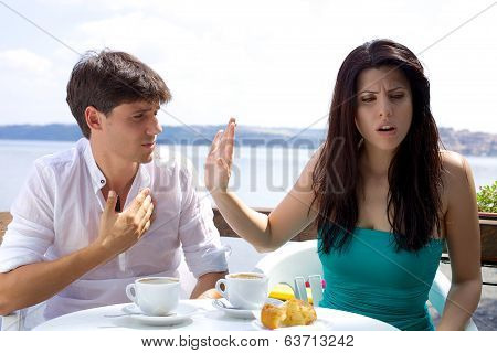 Beautiful Woman Angry With Boyfriend Not Willing To Listen