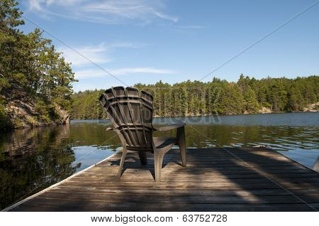 Cottage Chair On The Dock