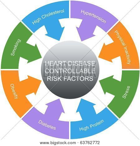 Heart Disease Controllable Risk Factors Circles Concept
