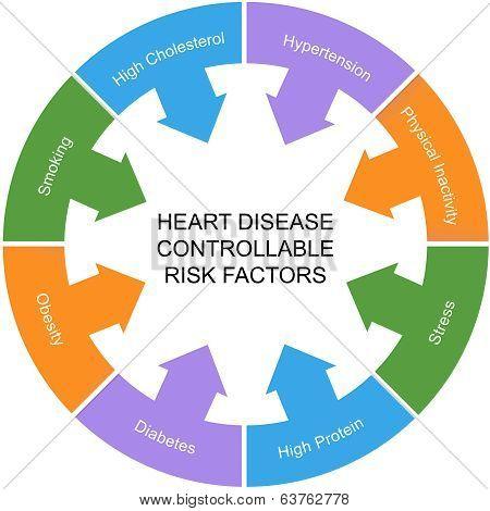 Heart Disease Controllable Risk Factors Circle Concept