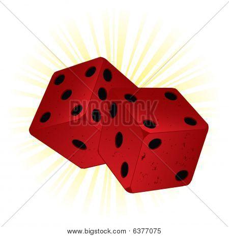 Red vintage dice