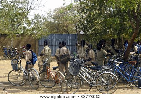 Bicycles Of The Pupils