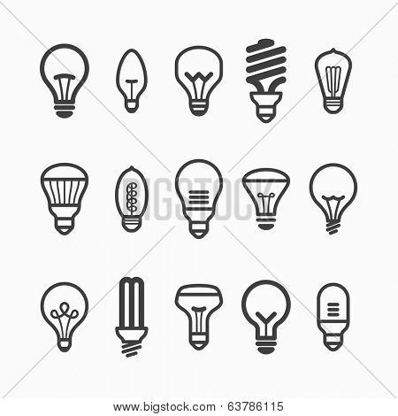 Light bulb icons. Vector.