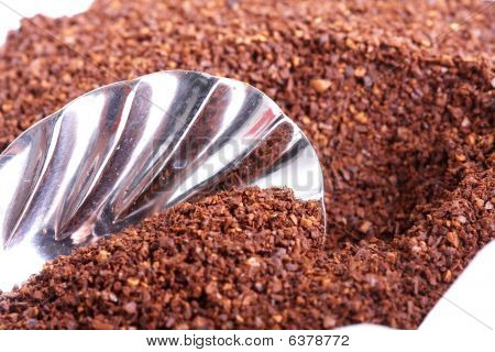 Coffee Grounds With Spoon