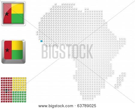 Guinea Bissau On Map Of Africa