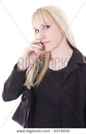 female on cell phone