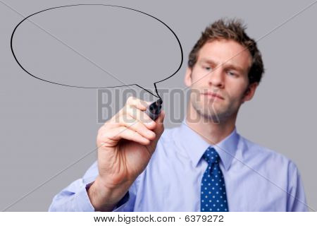 Businessman Speech Bubble