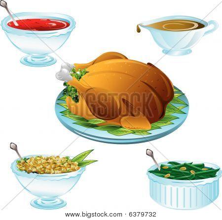 Thanksgiving Dinner Icons