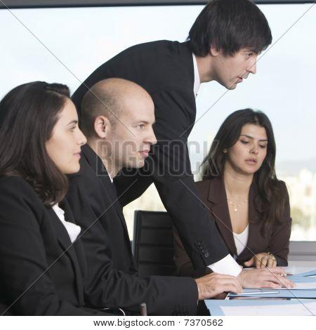 Businessteam Four people