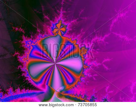 Abstract mandelbrot set purple fractal background
