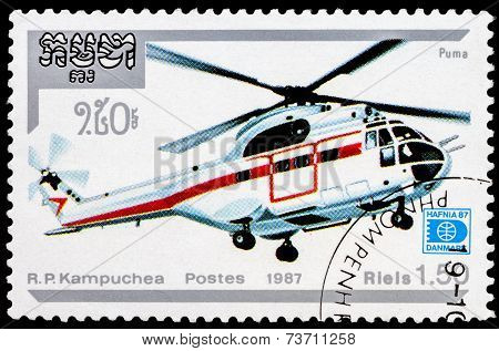 Post Stamp From Kampuchea