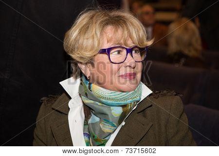 MOSCOW - OCTOBER, 1: Marina Neelova. Opening Season. Troupe of Theatre Meeting.