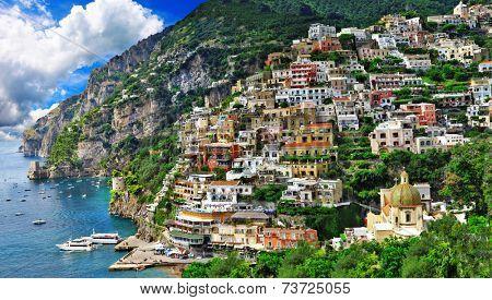 breathtaking scenery of Positano, Amalfi coast , Italy