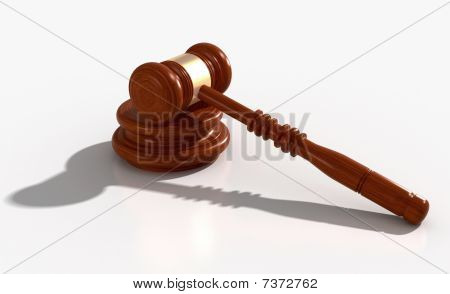 Gavel with clipping path