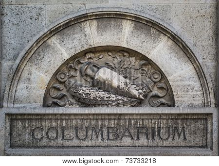Columbarium In Pere Lachaise Cemetery, Paris