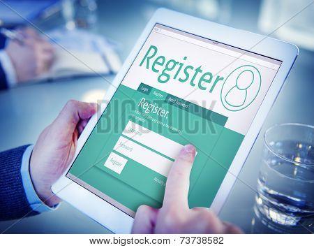 Man Having an Online Registration
