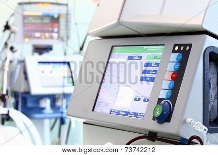 Equipment In The Service Of Medicine. Modern Device For Hemodialysis.