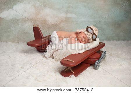 Newborn Baby Aviator Boy