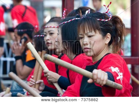 Japanese Ohara  Festival Taiko Drummers