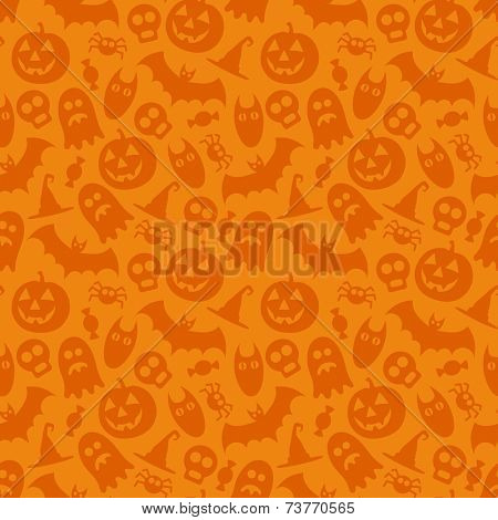 Halloween vector seamless pattern. Seamless texture can be used for wallpaper, pattern fills, web page,background.
