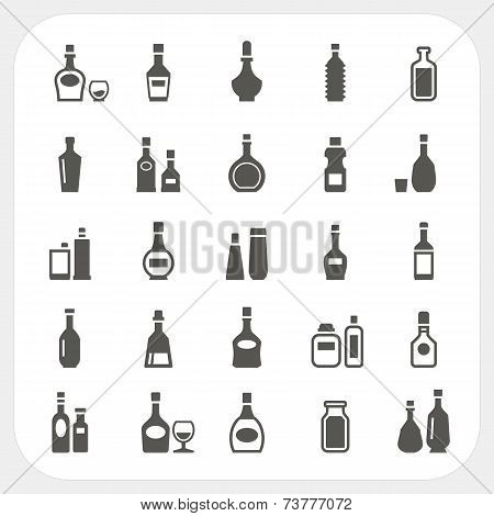 Bottle Icons Set