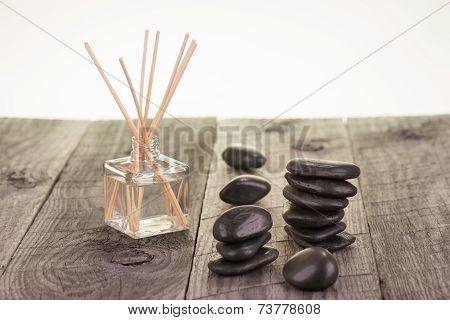 Aromatherapy Sticks And Black Stones