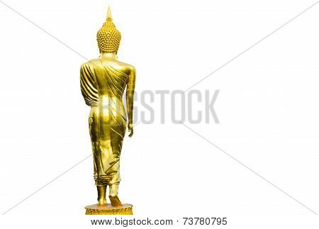Buddha Image Art On Isolated White Background
