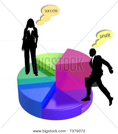 pie chart business vector
